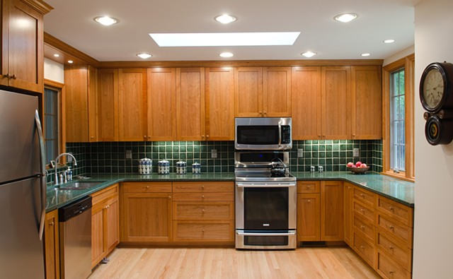 Shaker style kitchen view