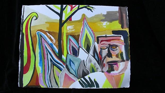 hangover, watercolor