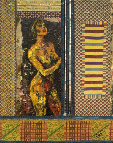 Sexually Explicit Painting Depicting a Stripper Dancing.