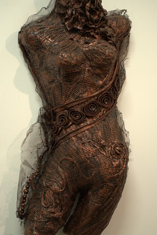 Mixed Media Molded Body Sculpture