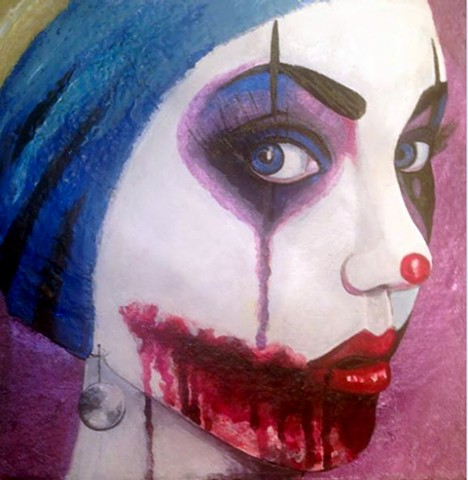 A satiric play of the classic Girl with Pearl Earring and the comic nemesis The Joker.