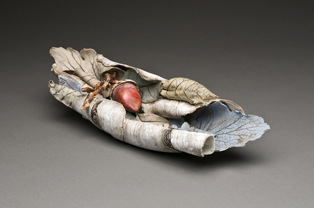 Birch bark with acorn