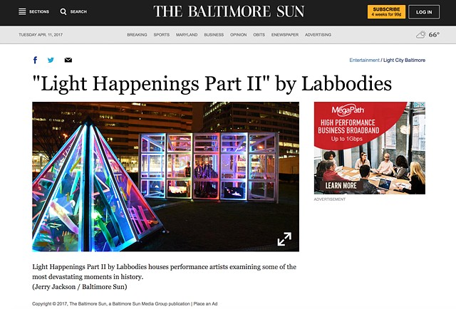 Labbodies in The Baltimore Sun!