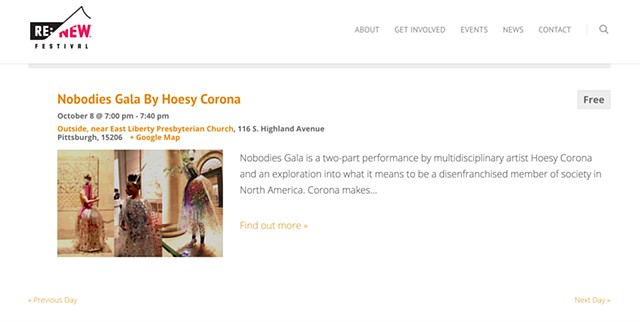 Nobodies Gala by Hoesy Corona at the Re:New Festival in Pittsburgh this fall!