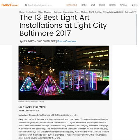 Labbodies Makes top 13 Light City Installations in Fodors Travel!