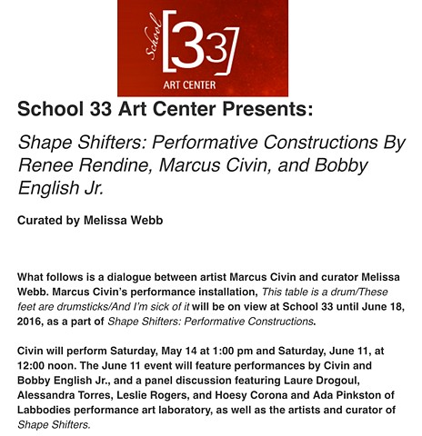 SCHOOL 33 | PERFORMANCE ART PANEL