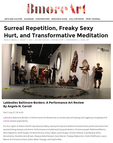 Labbodies Performance Art Review 2016 | part 2 in BmoreArt