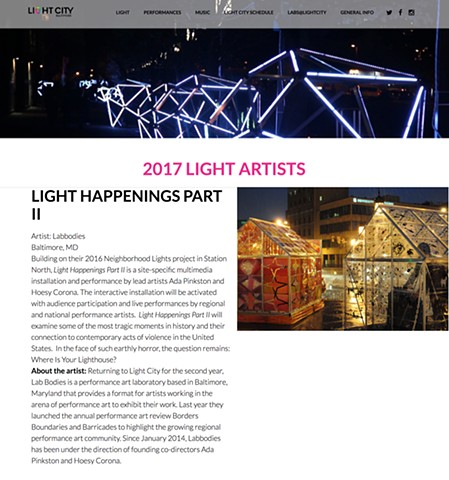 Labbodies selected as featured artists for Light City 2017