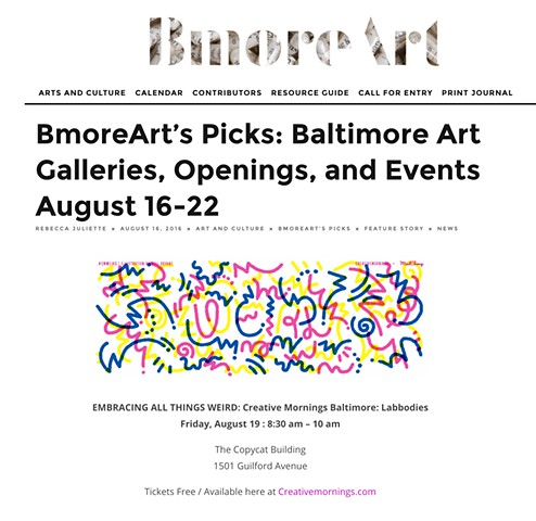 Labbodies + Creative Mornings = WEIRD | BMORE ART PICK!