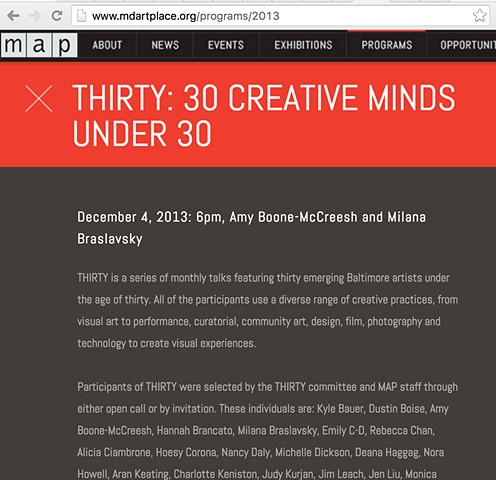 Maryland Art Place | 30 Under 30  | 2013
