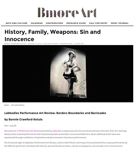 Labbodies Performance Art Review 2016 | reviewed in BmoreArt