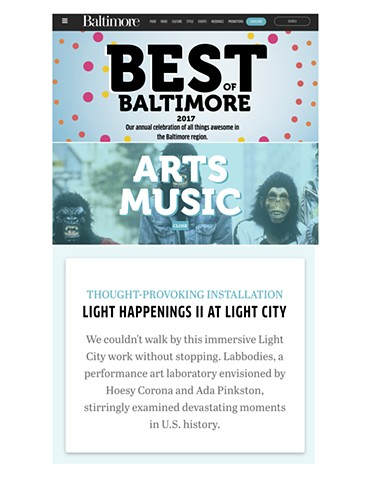Hoesy Corona in Baltimore Magazine's Best of Baltimore 2017