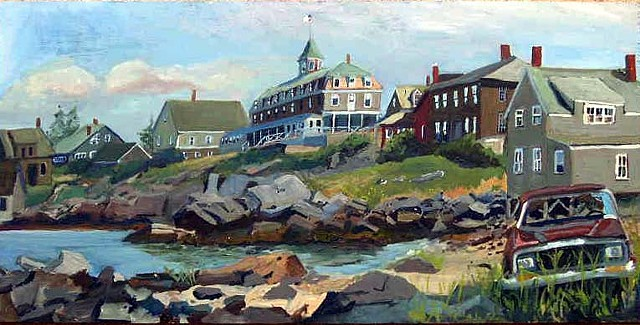 Fish Beach, Monhegan - SOLD