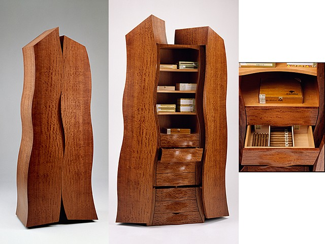 Custom furniture, humidor, sculpture, cabinet, hand crafted, cabinet-maker, artisan, Toronto, unique, design, original