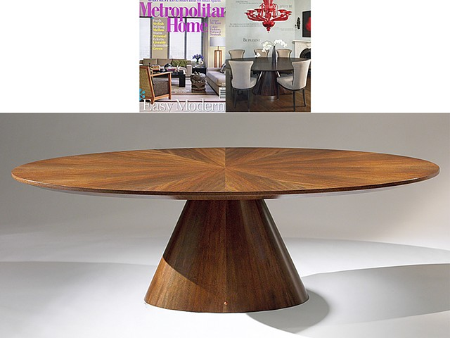 Custom furniture, dining table, hand crafted, cabinet-maker, artisan, Toronto