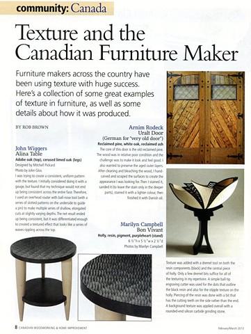 Canadian Woodworking Magazine
