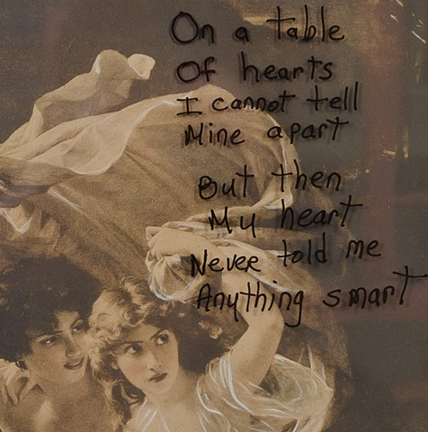 """FOUND """"On a Table of Hearts..."""" Detail"""