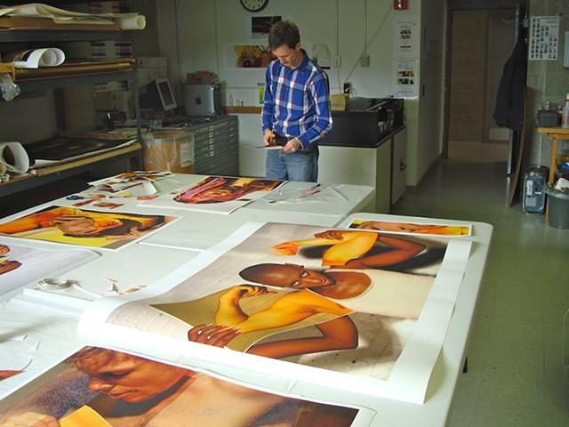 Printing at Alfred University, NY, 2012