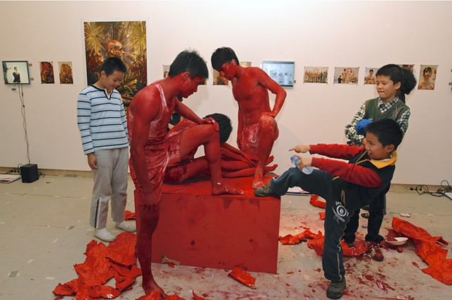 Areas for Action - Shenzhen: Red White Yellow He Xiang Ming Art Museum, Shenzen, China