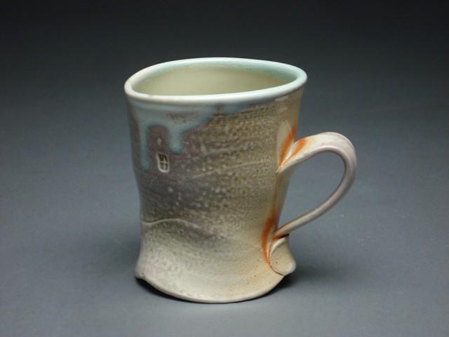 Sodafired cup awarded the Marcia Kelly Award for Ceramics 2011 University of North Dakota