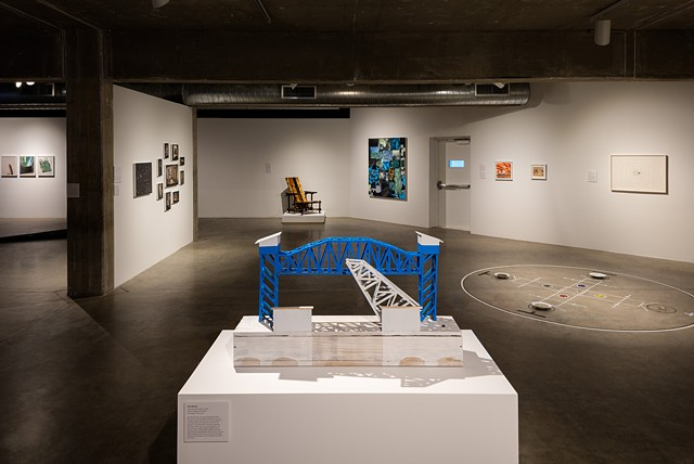 Installation view of Island Time: Galveston Artist Residency - The First Four Years at the Contemporary Arts Museum Houston, 2015. Photo by Gary Zvonkovic.