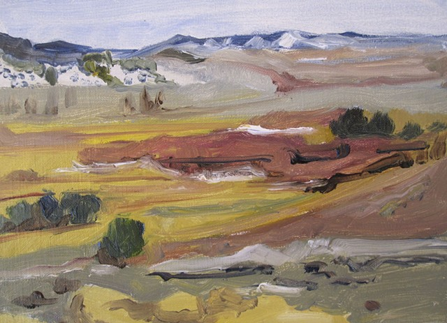 Brush Creek series - Hillside view of ranch