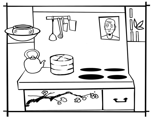 "UUA curriculum for ages 3-7 coloring page for the story ""The Picture on the Wall"""