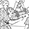 """UUA curriculum for ages 3-7 coloring page for the story """"The Best Meal"""" (draft)"""
