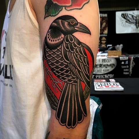 crow tattoo by dave wah