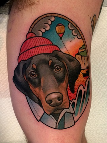 dog tattoo by dave wah