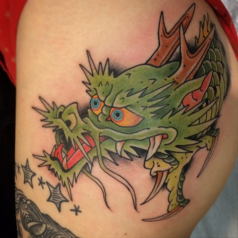 Japanese Tattoo Baltimore Maryland Virginia New York Traditional Custom Dragon