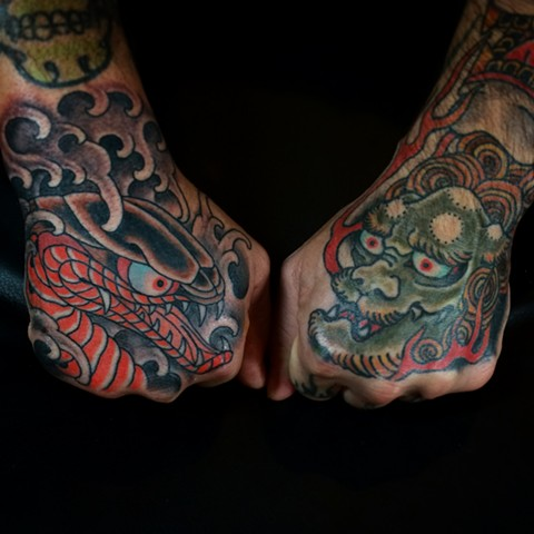 Japanese Hand tattoos