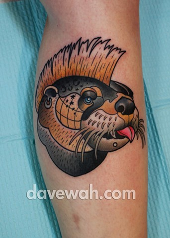 otter tattoo by dave wah at stay humble tattoo company in baltimore maryland the best tattoo shop in baltimore maryland