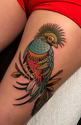 quetzal tattoo by dave wah