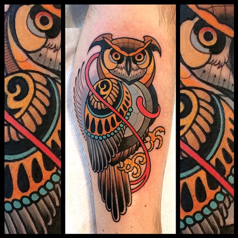 owl tattoo by dave wah at stay humble tattoo company in baltimore maryland the best tattoo shop in baltimore maryland