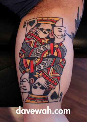 playing card tattoo by dave wah at stay humble tattoo company in baltimore maryland