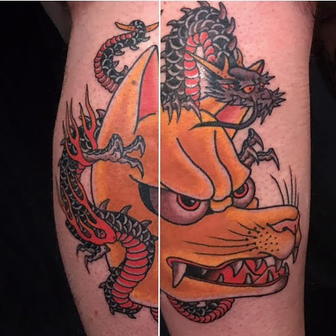 Japanese Tattoo Baltimore Maryland Virginia New York Traditional Custom Kitsune