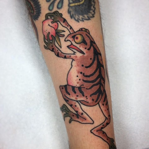 Japanese Tattoo Baltimore Maryland Virginia New York Traditional Custom Frog tattoo