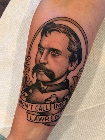 Joshua Lawrence Chamberlain tattoo by Dave Wah