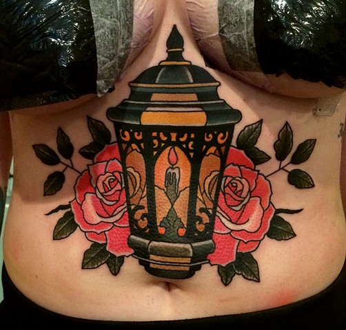 lantern tattoo by dave wah at stay humble tattoo company in baltimore maryland the best tattoo shop in baltimore maryland