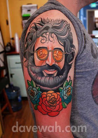jerry garcia grateful dead tattoo by dave wah at stay humble tattoo company in baltimore maryland
