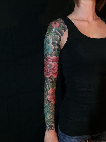Japanese Tattoo Baltimore Maryland Virginia New York Traditional Custom Peony tattoo
