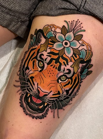 tiger tattoo by dave wah at stay humble tattoo company in baltimore maryland the best tattoo shop and artist in baltimore maryland