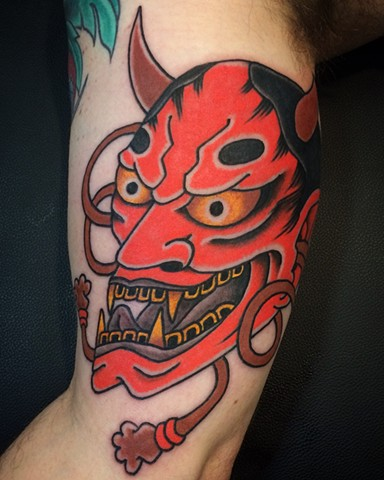 Japanese Hannya Mask Tattoo