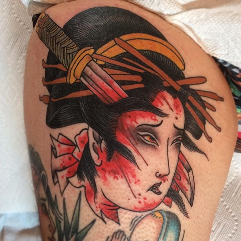 Japanese Namakubi Tattoo