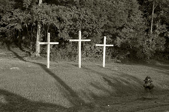 Crosses Beside A Church