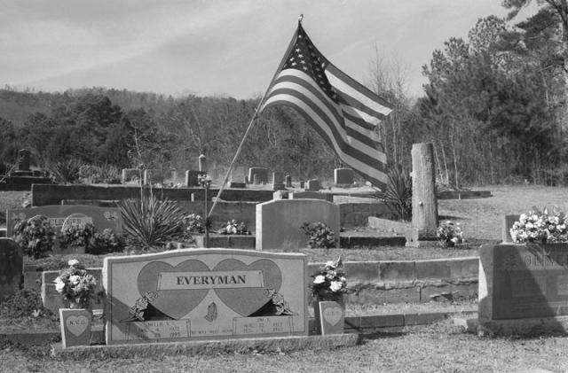 A Flag In A Cemetery