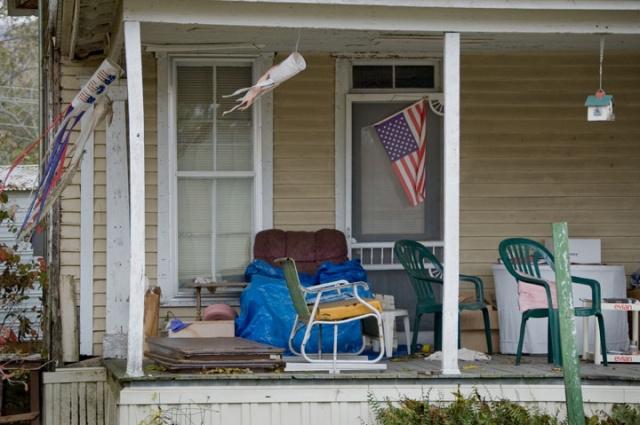 A Flag On A Porch