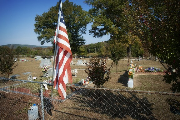 Flag In Gibson Cemetery