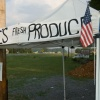 Flags On Roadside Produce Stand